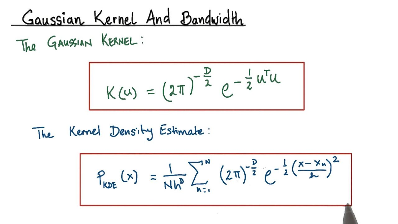 Gaussian Kernel and Bandwidth - Model Building and Validation