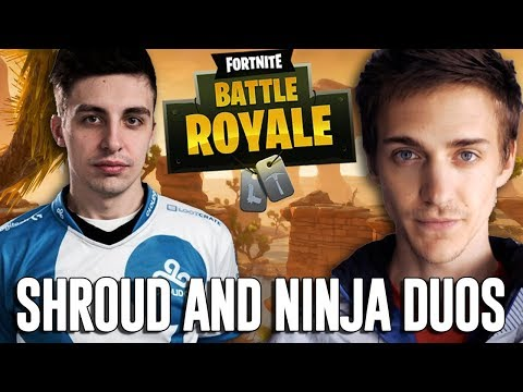 Ninja and Shroud Duos!! – Fortnite Battle Royale Gameplay