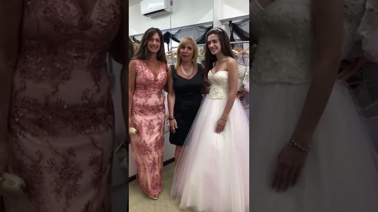 Prueba De Vestido 15 Años Agostina Y Mamá De Quinceañera Liliana By Renata Russo Alta Costura Moda