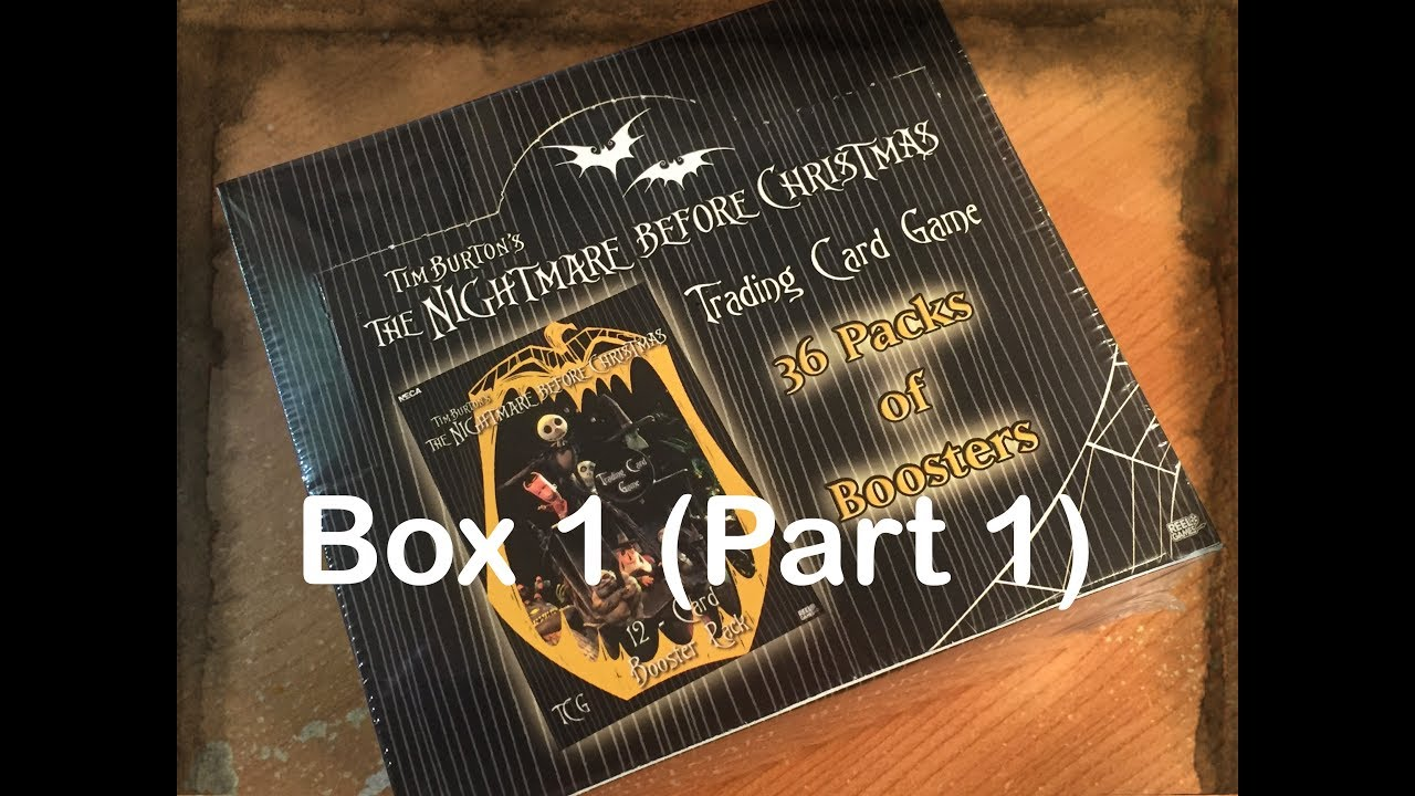 The Nightmare Before Christmas TCG Box Opening (Box 1 Part 1) - YouTube