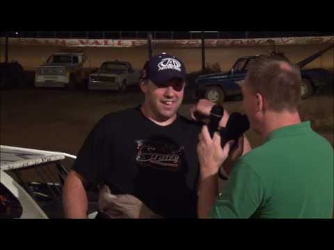 Tim Snare in victory lane at Path Valley 8-12-16