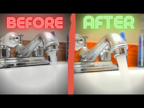 Easy fix for low water pressure in kitchen sink or bathroom sink