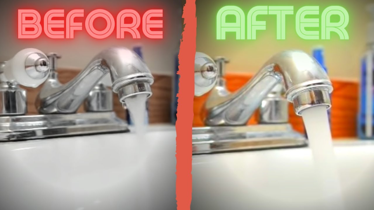 Easy fix for low water pressure in kitchen sink or