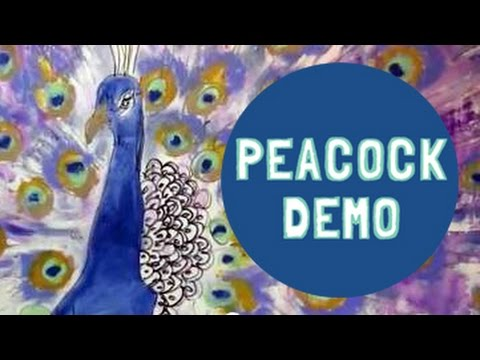 Painting Demonstration Peacock (Just For Fun)