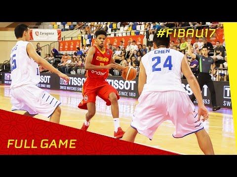 Chinese Taipei v Spain - R.o.16 - Full Game - FIBA U17 World Championship 2016