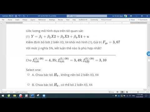 Chữa bài kiểm tra trắc nghiệm môn Kinh tế lượng
