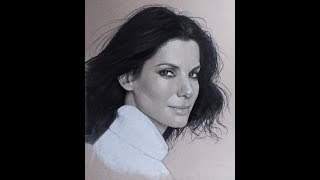 Sandra Bullock Speed Drawing