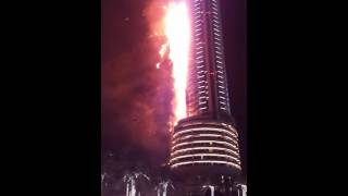 Full HD video of Fire at The Address Hotel Dubai, UAE