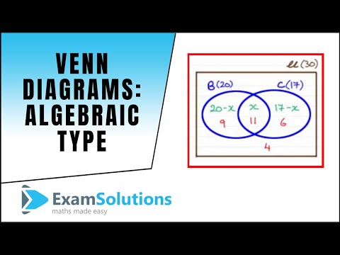 Venn Diagrams Algebraic Type Examsolutions Maths Revision Youtube
