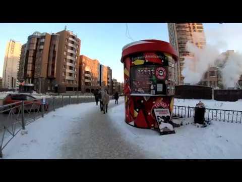 [4K] Novosibirsk - Winter walking Ordzhonikidze street - Russia / Новосибирск 4К