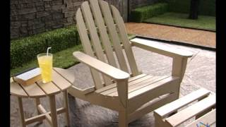 Polywood® Recycled Plastic Curveback Adirondack Chair And Side Table Set - Product Review Video