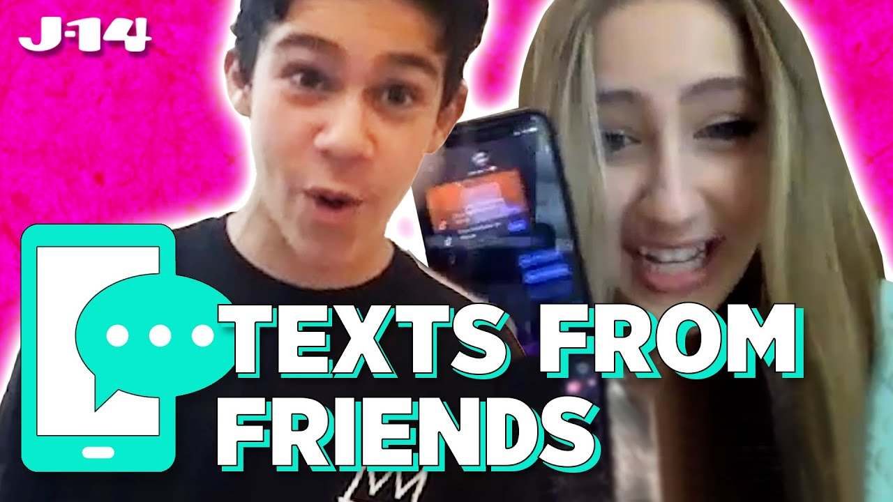 Sydney to the Max Stars Ava Kolker and Jackson Dollinger Read Texts From Friends