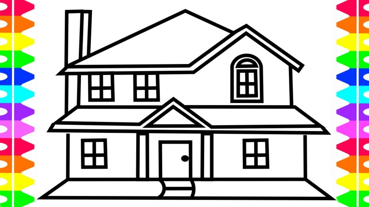 How to Draw House House Coloring