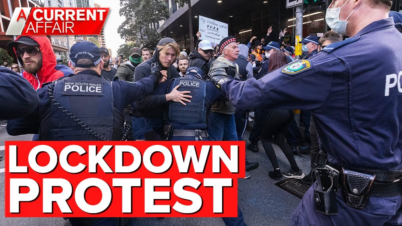 Confronting anti-lockdown protests across Australia   A Current Affair