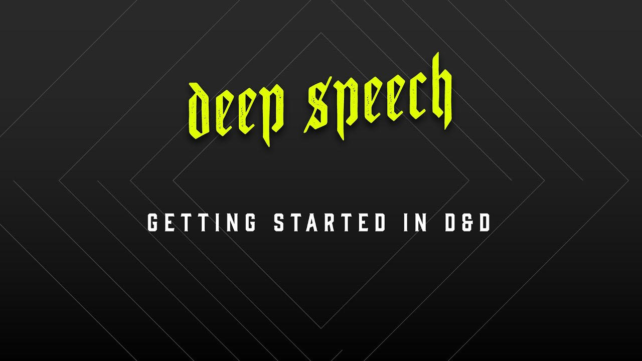 Deep Speech Getting Started In D D Youtube