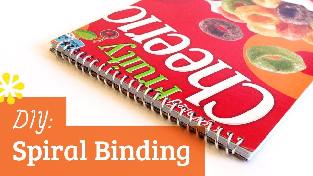 Diy spiral bookbinding tutorial sea lemon youtube solutioingenieria Choice Image