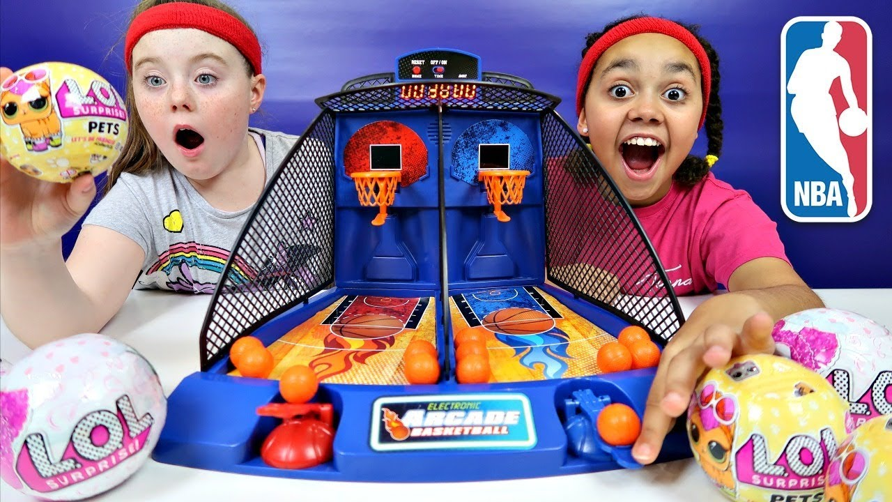 Arcade Basketball Game Toy Challenge Lol Surprise Dolls