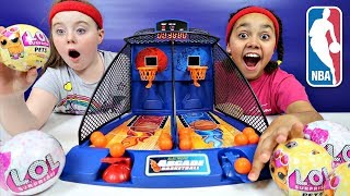 Arcade Basketball Game Toy Challenge  - LOL Surprise Dolls