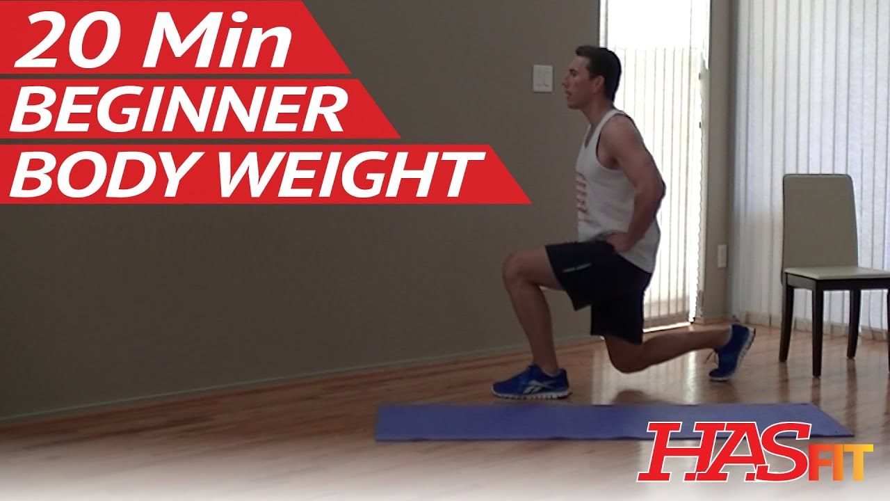 20 min beginner body weight workout at home easy workouts without