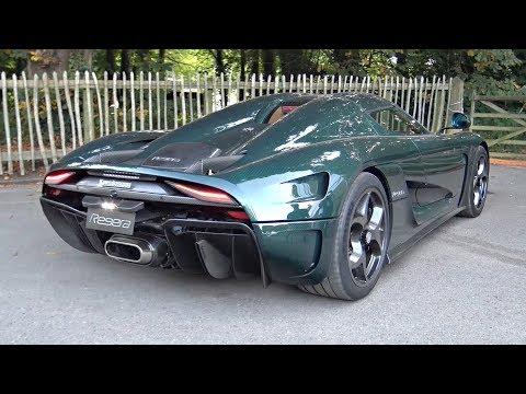 Green Carbon Koenigsegg Regera Start Up, Accelerations & Exhaust Sound @ Goodwood!