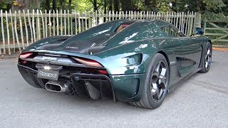 Download Video Green Carbon Koenigsegg Regera Start Up, Accelerations & Exhaust Sound @ Goodwood! MP3 3GP MP4