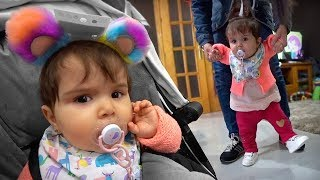 LAURINHA ESTÁ QUASE ANDANDO!! Roupas de Bebê para Laura - Daily Vlog Familia Brancoala