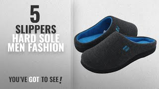 Top 10 Slippers Hard Sole [Men Fashion Winter 2018 ]: RockDove Men