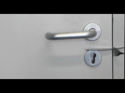 Bevorzugt Lifehack: Tür mit Gabel abschließen – Zimmertür / Schloss ohne CN64