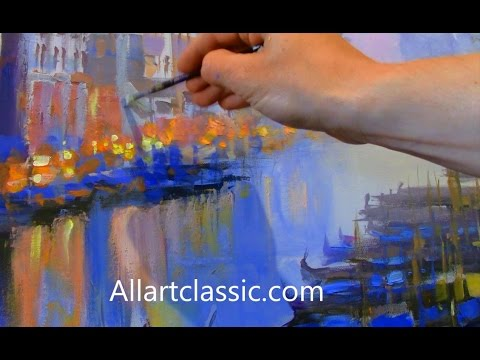Modern Art Painting Venice The Grand Canal