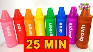 TOP Learn Colours with Pencil Surprises Compilation  Learn Names of Fruits & Animal Collection