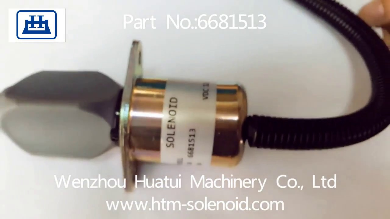 fuel shut off solenoid for bobcat skid steers 743 751 753 763 773 a 6681513 [ 1280 x 720 Pixel ]