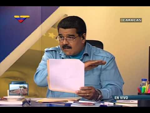 """Maduro lee """"Plan de 100 días"""" y las """"Medidas inmediatas del Gobierno de Transición"""""""