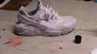HOW TO WHITEN MIDSOLE/UPPERS OF NIKE AIR HUARACHES!!!