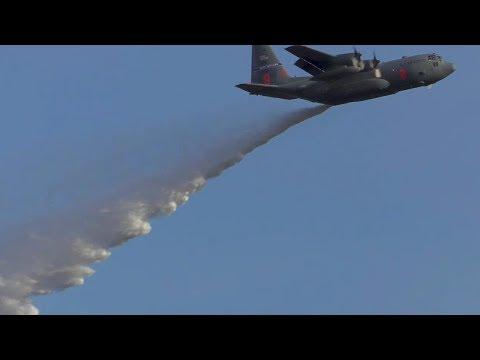 모듈형 공중화재 진화시스템을 탑재한 미공군 C-130 수송기