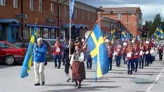 Halsen Skolekorps I Krokom I Sverige På Sveriges Nasjonaldag 06.juni.2012