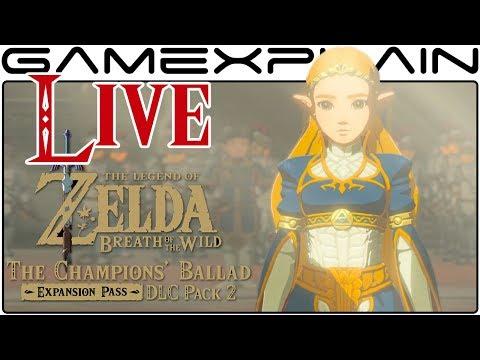 The Champions' Ballad DLC LIVESTREAM Continued! (Zelda: Breath of the Wild Gameplay)