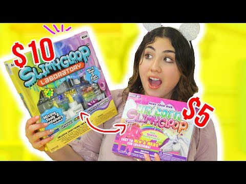 COMPARING BIG LABORATORY SLIME KIT VS NORMAL SLIME KIT $5 vs $10 kit | Slimeatory #168