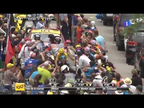 Últimos 5 km del mítico Alpe-D'Huez, Tour de Francia 2013 Ataques Nairo Quintana