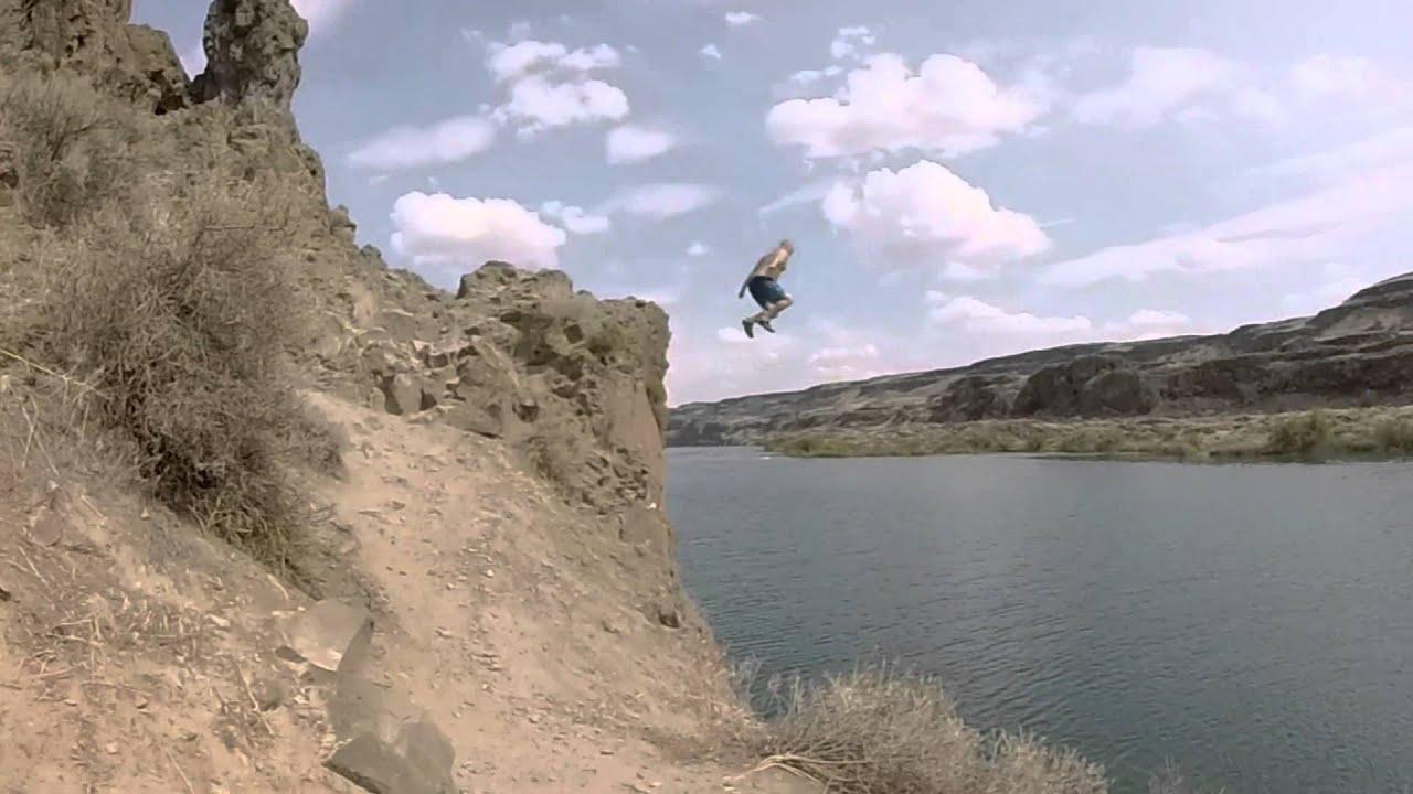Gopro Hero Silver 3 Cliff Jumping Deep Lake Wa Youtube
