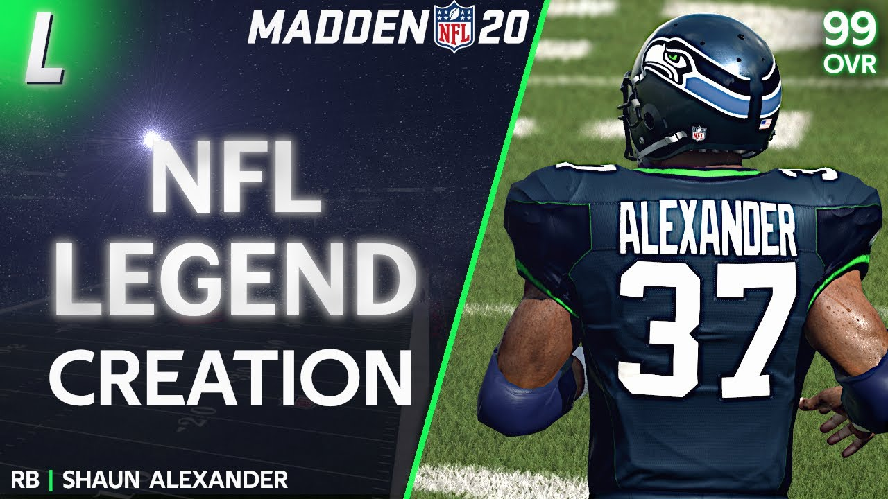 RB Shaun Alexander Creation Madden 20 Seattle Seahawks Legend PS4 ...