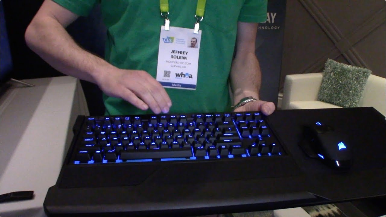 109 wireless mechanical keyboard meet the corsair k63 series at ces 2018 youtube. Black Bedroom Furniture Sets. Home Design Ideas