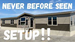 """The setup on this NEW home is SWEET! Wait until you see the """"utility"""" room! Mobile Home Masters Tour"""