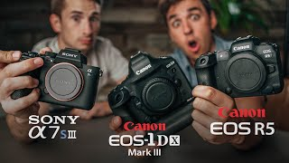 Canon R5 vs Sony A7SIII vs 1dx Mark III - The Ultimate Video Shootout