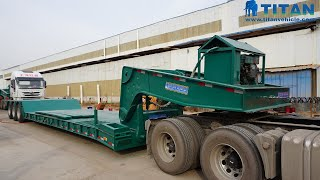 Download Video Hydraulic Detachable Gooseneck Front Loading Lowbed Trailer | TITAN VEHICLE MP3 3GP MP4