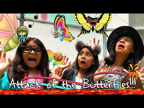 Butterflies Attack - The Floor Is Lava - Natural History Museum Los Angeles : VLOG IT // GEM Sisters