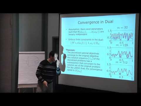 Ben Recht - The Algorithmic Frontiers of Atomic Norm Minimization - invited talk