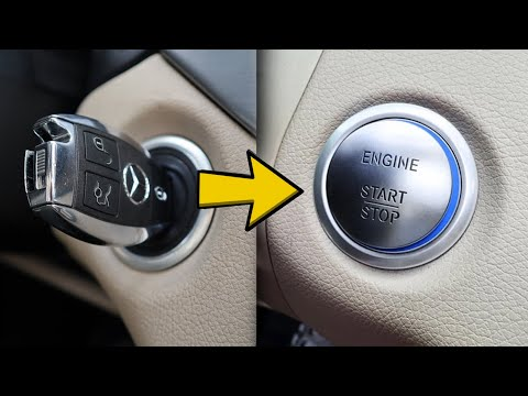 Mercedes. How to install start stop button