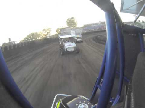 Huset's Speedway 8-11-13 - Micro Sprint Heat #1 - Shane Fick Onboard Camera