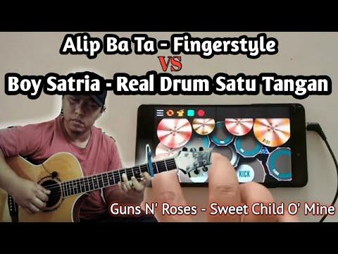alip-ba-ta-(-finger-style-)-&-boy-satria-(-real-drum-)-|-guns-n'-roses---sweet-child-o'-mine-cover