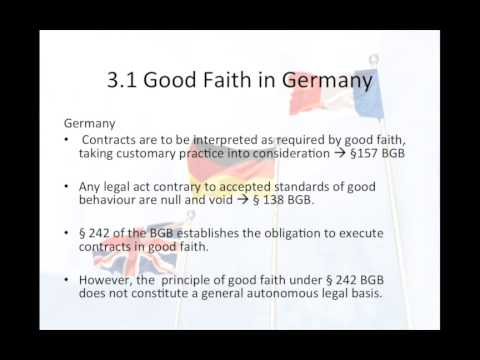 European Contract Law-Interpretation of Contracts (Germany)